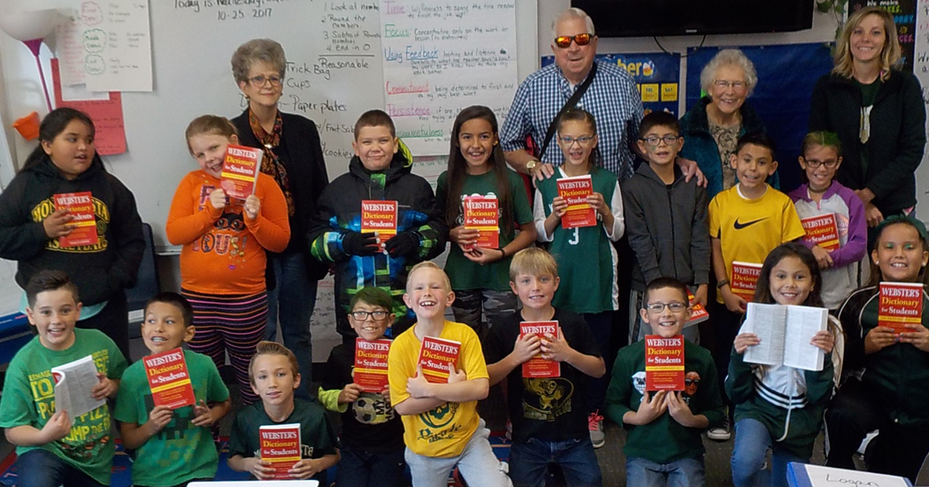 Kiwanis Dictionaries Bill Metz Elementary October 26, 2017