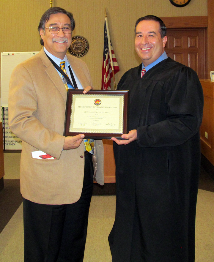 Colorado Judicial Branch: Judge Honored For Service